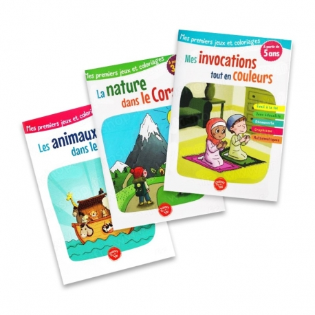 Pack 3 livres Graines de foi - Les animaux dans le Coran - Mes invocations tout en couleurs - La nature dans le Coran