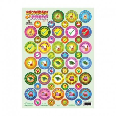 Encourage Junior - Maison n° 1 - Plaque de 52 autocollants de récompense et d'encouragement