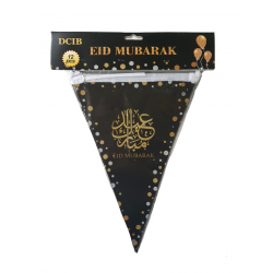 La bannière drapeau points brillants l'EID MUBARAK