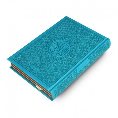 Le Coran Arc-en-ciel version arabe (Lecture Hafs) - Couverture couleur bleu clair de luxe - Rainbow - Editions Orientica