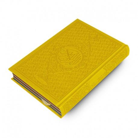 Le Coran Arc-en-ciel version arabe (Lecture Hafs) - Couverture couleur Jaune de luxe - Rainbow - Editions Orientica