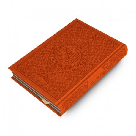 Le Coran Arc-en-ciel version arabe (Lecture Hafs) - Couverture couleur Orange de luxe - Rainbow - Editions Orientica