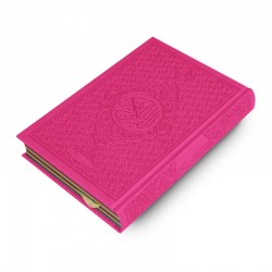 Le Coran Arc-en-ciel version arabe (Lecture Hafs) - Couverture couleur Rose de luxe - Rainbow - Editions Orientica