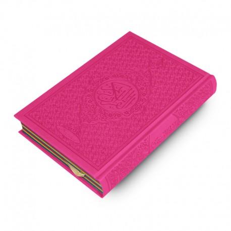 Le Coran Arc-en-ciel version arabe (Lecture Hafs) - Couverture couleur Rose de luxe - Rainbow - Editions Orientica