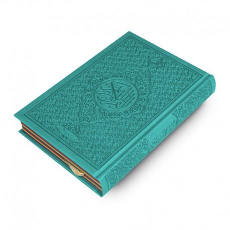 Le Coran Arc-en-ciel version arabe (Lecture Hafs) - Couverture couleur Turquoise de luxe - Rainbow - Editions Orientica