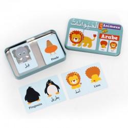 Ma Boîte Puzzle DUO Les animaux : 32 Pièces (Boîte Métallique) - Arabe/Français - Osratouna