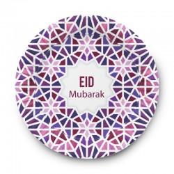 Assiettes Mosaic Eid - lot de 6 assiettes - Eid moubarak