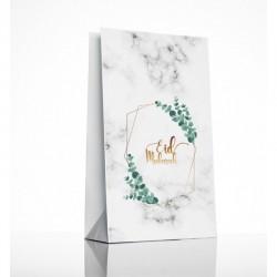 Sacs cadeaux eucalyptus marbre - lot de 6 - Eid moubarak
