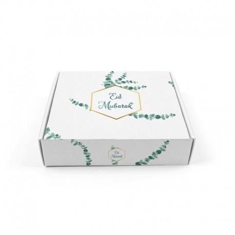 Boîte à gâteaux eucalyptus - Eid moubarak