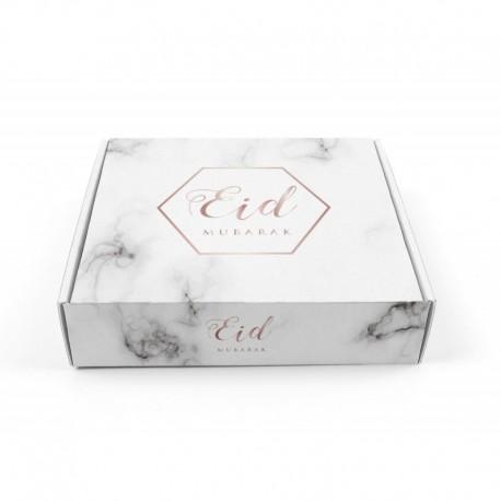 Boîte à gâteaux marbre - Eid moubarak