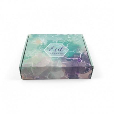 Boîte à gâteaux aquarelle - Eid moubarak