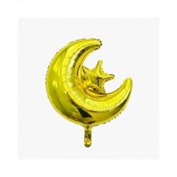 Ballon étoile lune dorée - Eid moubarak