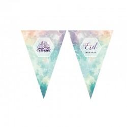 Guirlande aquarelle - Eid moubarak