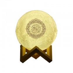 """Lampe Veilleuse Coranique """"Lune"""" avec récitation du Coran et télécommande et changement de couleurs - Moon Lamp"""