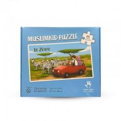 Puzzle Grand Format - le Zébre - 48 Pièces - Muslim Kid - 3 ans+