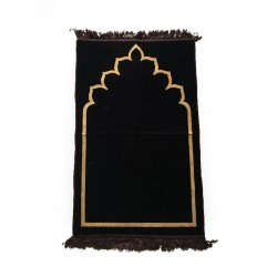 Tapis de prière adulte ultra-doux - Couleur brun motif simple
