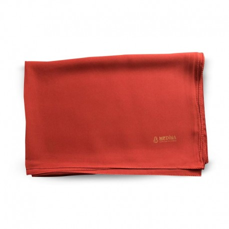 HIJAB EN SOIE DE MÉDINE (70 x 190cm) - couleur rouge - MEDINA