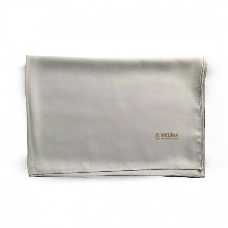 HIJAB EN SOIE DE MÉDINE (70 x 190cm) - couleur gris - MEDINA