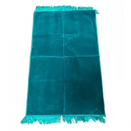 Tapis de prière adulte ultra-doux - Couleur vert unie sans motifs