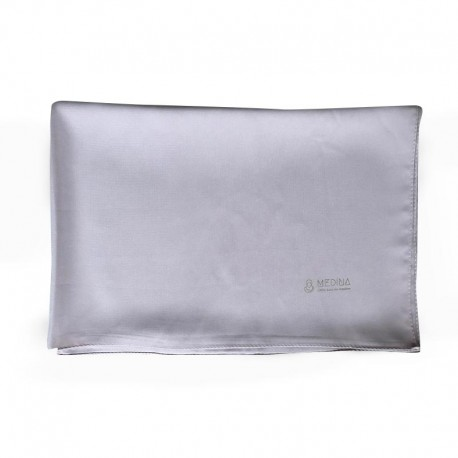 HIJAB EN SOIE DE MÉDINE (70 x 190cm) - couleur gris rosé - MEDINA
