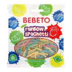 Bebeto Sour Rainbow Spaghetti - 70g - bonbon halal