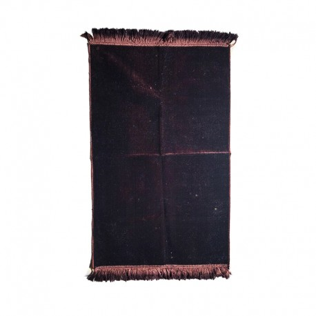 Tapis de prière adulte ultra-doux - Couleur brun unie sans motifs