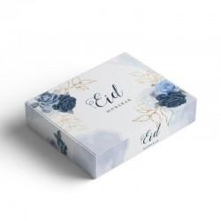 Boîte à gâteaux Bleu pivoine - Eid moubarak