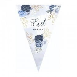 Guirlande Bleu pivoine - Eid moubarak
