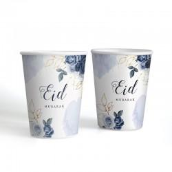 Gobelet  Bleu pivoine - lot de 6 - Eid moubarak