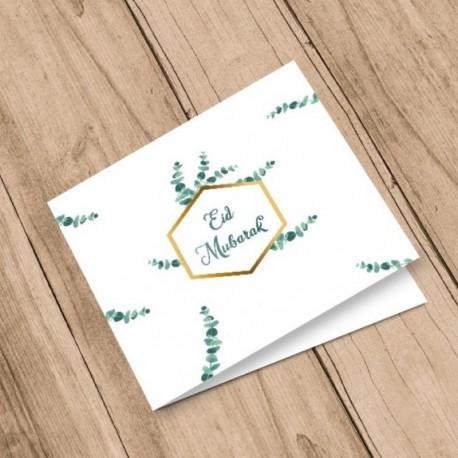 Carte postale Eid Mubarak - Eucalyptus