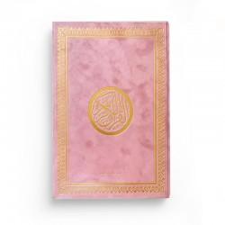 Le Saint Coran version arabe (Lecture Hafs) de luxe avec couverture vieux rose dorée (25 x 35 cm) - GRAND FORMAT