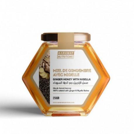 Miel au Gingembre et à la Nigelle - 250g - Karamats