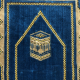 Tapis ultra doux pour enfant (33 x 58 cm) - couleur bleu - motif Kaaba