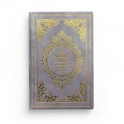 Le Noble Coran et la traduction en langue française de ses sens - couverture cartonnée en daim couleur mauve doré