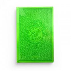 Le Coran Arc-en-ciel version arabe (Lecture Hafs) - Couverture couleur Vert de luxe - Rainbow - Editions Orientica