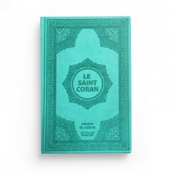 Le saint Coran - arabe français - Turquoise - Librairie El-Azhar