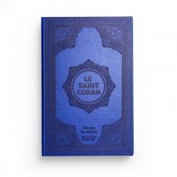 Le saint Coran - arabe français - bleu - Librairie El-Azhar