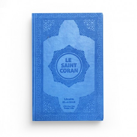 Le saint Coran - arabe français - bleu clair - Librairie El-Azhar