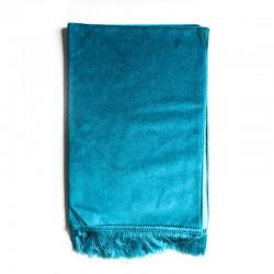 Tapis De Prière Velours Luxe Couleur Unie - 120 X 70 CM - BLEU TURQUOISE