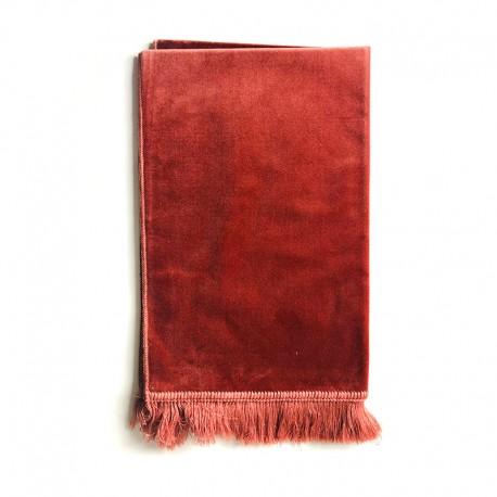 Tapis De Prière Velours Luxe Couleur Unie - 120 X 70 CM - ORANGE SAUMON