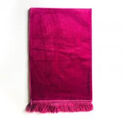 Tapis De Prière Velours Luxe Couleur Unie - 120 X 70 CM - ROSE TAMATIA