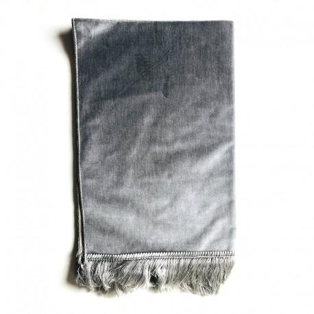 Tapis De Prière Velours Luxe Couleur Unie - 120 X 70 CM - GRIS