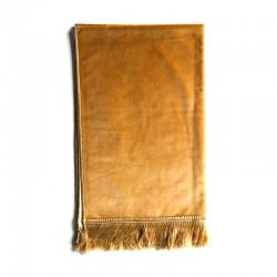 Tapis De Prière Velours Luxe Couleur Unie - 120 X 70 CM - JAUNE SABLE