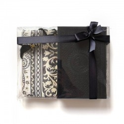 GRAND Coffret cadeau : Coran + tasbih + Tapis de priere : NOIR