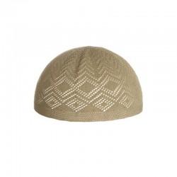 Bonnet musulman pour hommes - coton - TAUPE