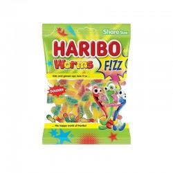 Bonbon Haribo - worms fizz - 100g